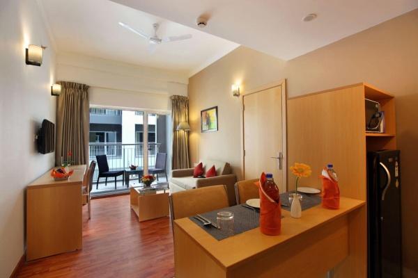 Starlit Suites Cochin - 1 BHK - Living Room