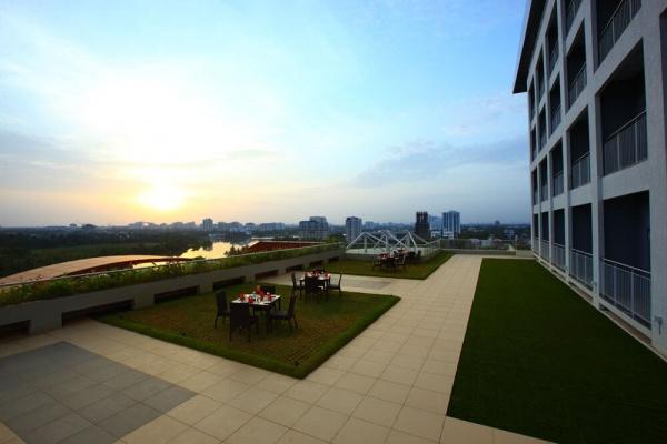 Starlit Suites Cochin - Rooftop Garden at Dawn